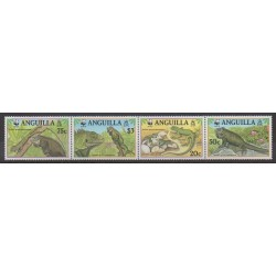 Anguilla - 1997 - Nb 903/906 - Reptils - Endangered species - WWF
