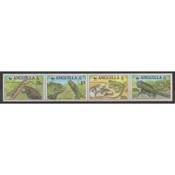 Anguilla - 1997 - No 903/906 - Reptiles - Espèces menacées - WWF