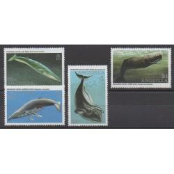 Anguilla - 1995 - No 868/871 - Mammifères - Animaux marins - Espèces menacées - WWF