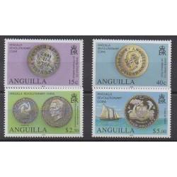 Anguilla - 2012 - No 1123/1126 - Monnaies, billets ou médailles
