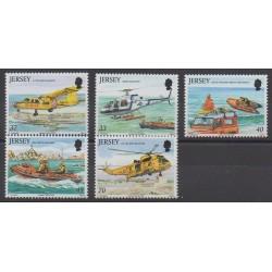 Jersey - 2005 - No 1195/1199 - Hélicoptères
