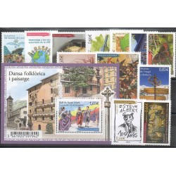 French Andorra - complete year - 2014 - Nb 748/762