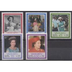 Vanuatu - 1987 - No 764/768 - Royauté - Principauté