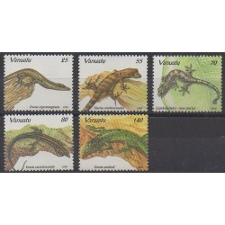 Vanuatu - 1995 - No 972/976 - Reptiles