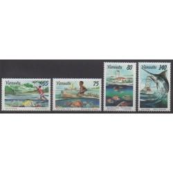 Vanuatu - 1996 - No 995/998 - Artisanat ou métiers - Navigation
