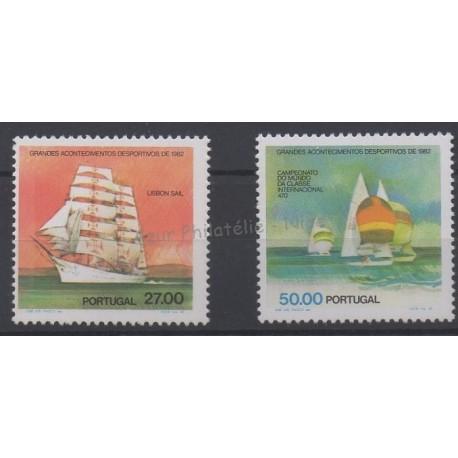 Portugal - 1982 - Nb 1537 et 1539 - Boats