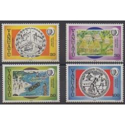 Vanuatu - 1985 - Nb 722/725 - Children's drawings