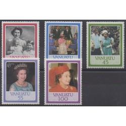 Vanuatu - 1986 - No 735/739 - Royauté - Principauté