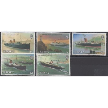 Jersey - 1989 - No 485/489 - Bateaux