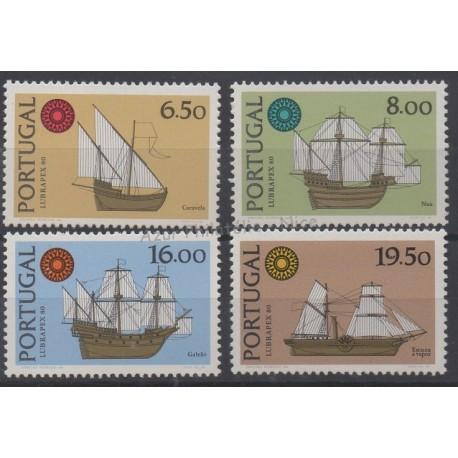 Portugal - 1980 - No 1482/1485 - Bateaux