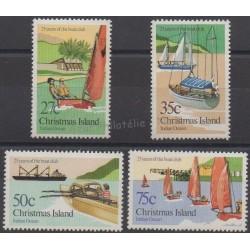 Christmas (Iles) - 1983 - No 175/178 - Bateaux
