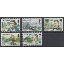 Man (Ile de) - 1989 - No 397/401 - Bateaux