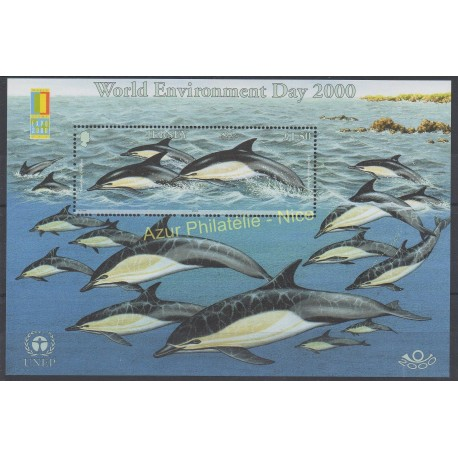 Stamps - Theme fishes - Jersey - 2000 - Nb BF 33