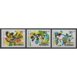 Antilles néerlandaises - 1972 - No 434/436 - Folklore