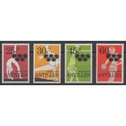 Antilles néerlandaises - 1980 - No 609/612 - Jeux Olympiques d'été