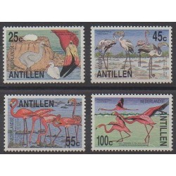 Antilles néerlandaises - 1985 - No 732/735 - Oiseaux