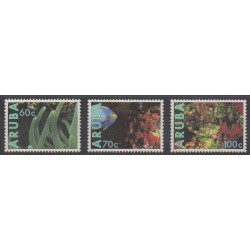 Aruba (Netherlands Antilles) - 1990 - Nb 73/75 - Sea animals