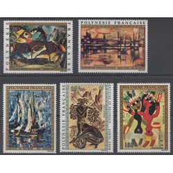 Polynesia - Airmail - 1972 - Nb PA65/PA69 - Paintings