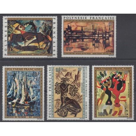 Polynésie - Poste aérienne - 1972 - No PA65/PA69 - Peinture