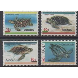 Aruba (Netherlands Antilles) - 1995 - Nb 164/167 - Reptils