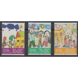 Aruba (Netherlands Antilles) - 1995 - Nb 168/170 - Children's drawings