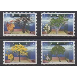 Aruba (Netherlands Antilles) - 1997 - Nb 208/211 - Trees