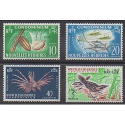 New Hebrides - 1965 - Nb 215/218 - Animals