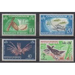 Nouvelles-Hébrides - 1965 - No 215/218 - Animaux