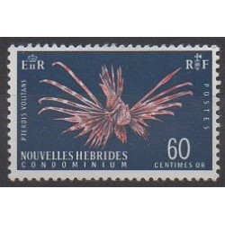 New Hebrides - 1967 - Nb 265 - Sea animals