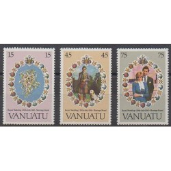 Vanuatu - 1981 - No 628/630 - Royauté - Principauté
