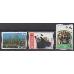 Antilles néerlandaises - 1997 - No 1111/1113 - Mammifères - Ponts - Philatélie