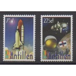 Antilles néerlandaises - 2000 - No 1237/1238 - Espace - Philatélie
