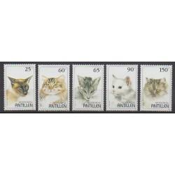 Antilles néerlandaises - 1995 - No 1017/1021 - Chats