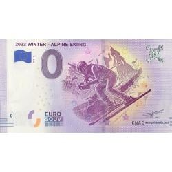 Euro banknote memory - 2022 Winter - Alpine Skiing - 2018-1