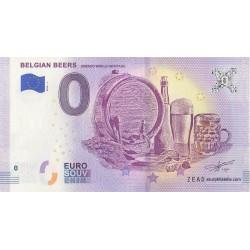 Euro banknote memory - Belgian Beers - Unesco World Heritage - 2018-1