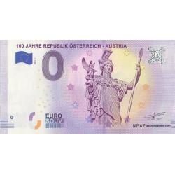 Euro banknote memory - 100 Jahre Republik Österreich - Austria - 2018-1