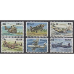 Belize - 1993 - No 990/995 - Aviation - Hélicoptères - Histoire militaire