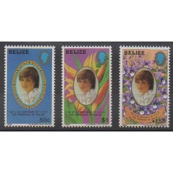 Belize - 1982 - No 582/584 - Royauté - Principauté
