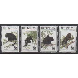 Belize - 1997 - No 1083/1086 - Mammifères - Espèces menacées - WWF