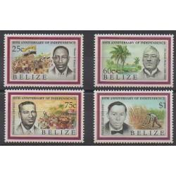 Belize - 1991 - No 962/965 - Célébrités - Histoire