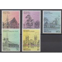 Belize - 1989 - No 914/918 - Églises - Noël