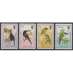Belize - 1986 - No 825/828 - Oiseaux