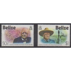 Belize - 1974 - Nb 351/352 - Celebrities