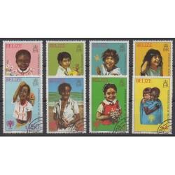 Belize - 1980 - No 472/479 - Enfance - Oblitérés