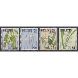 Belize - 1995 - No 1039/1042 - Fleurs - Philatélie