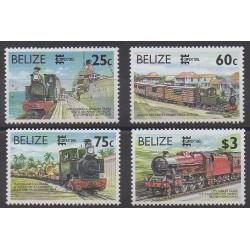 Belize - 1996 - No 1051/1054 - Chemins de fer - Philatélie