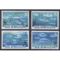 Bermuda - 2004 - Nb 882/885 - Sea animals - Endangered species - WWF