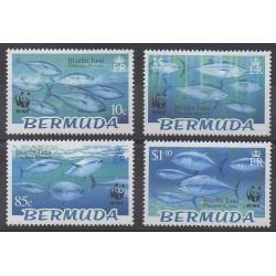 Bermudes - 2004 - No 882/885 - Animaux marins - Espèces menacées - WWF