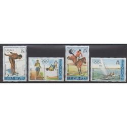 Bermudes - 1984 - No 443/446 - Jeux Olympiques d'été