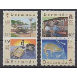 Bermuda - 1987 - Nb 516/519 - Telecommunications